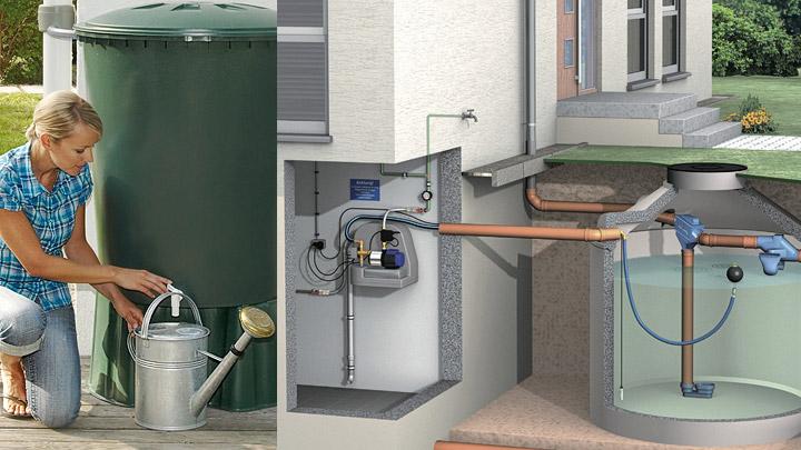 Cisterna agua lluvia