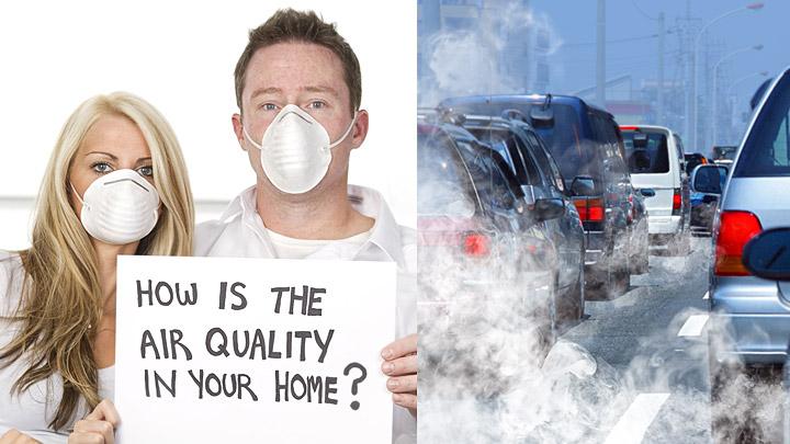 Polucion aire dentro fuera casa