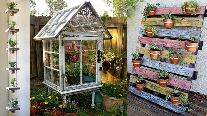 Cinco eco ideas para tener un jard n m s bonito - Reciclar palets para jardin ...