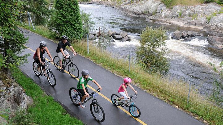 Bicicleta en familia