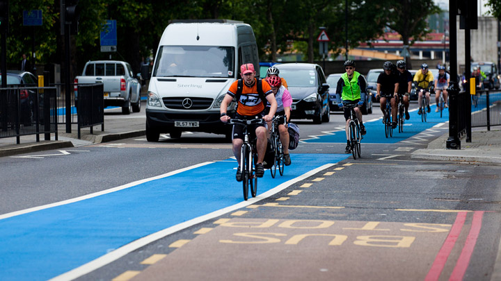 Carril-bici-Londres