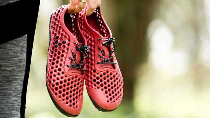 Zapatillas hechas con algas