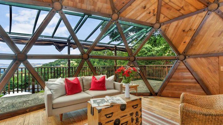 Casa geodesica de madera